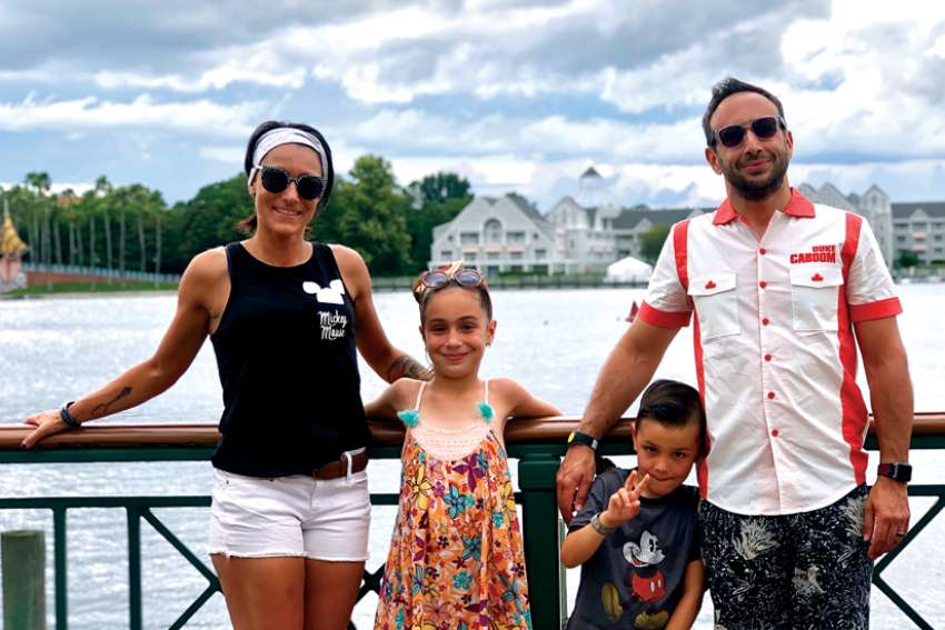 Angelina Santaromita Villa, with her husband Paolo and children Messina and Luca, is scheduled to undergo brain surgery in December.
