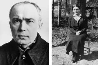 Sts. Maximilian Kolbe and Edith Stein are pictured in a combination photo. The two saints are extensively documented in a new study of religious practices among Christian prisoners at Auschwitz-Birkenau, as the 75th anniversary of the Nazi-run death camp's liberation was marked in Israel and Poland.