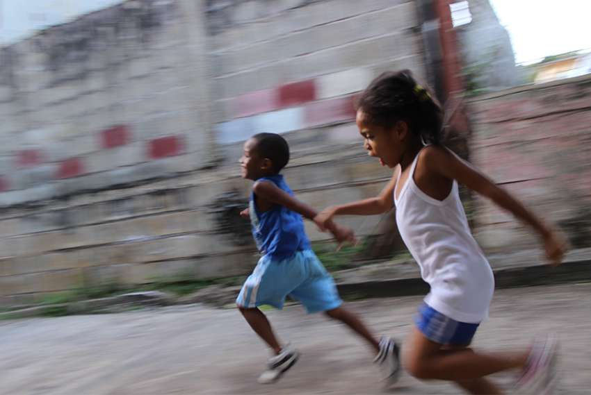 Children playing in Trinidad.