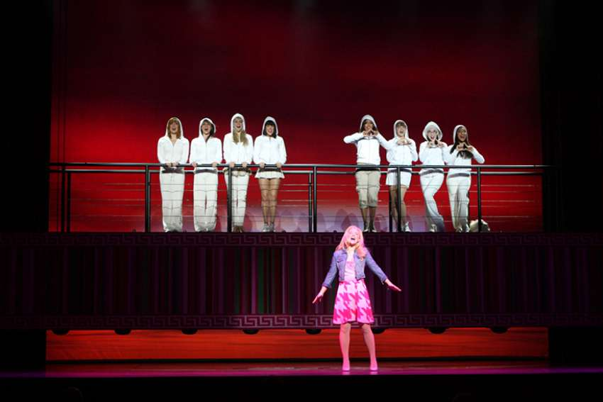 A production of Legally Blond The Musical in Sydney, Australia 2012.