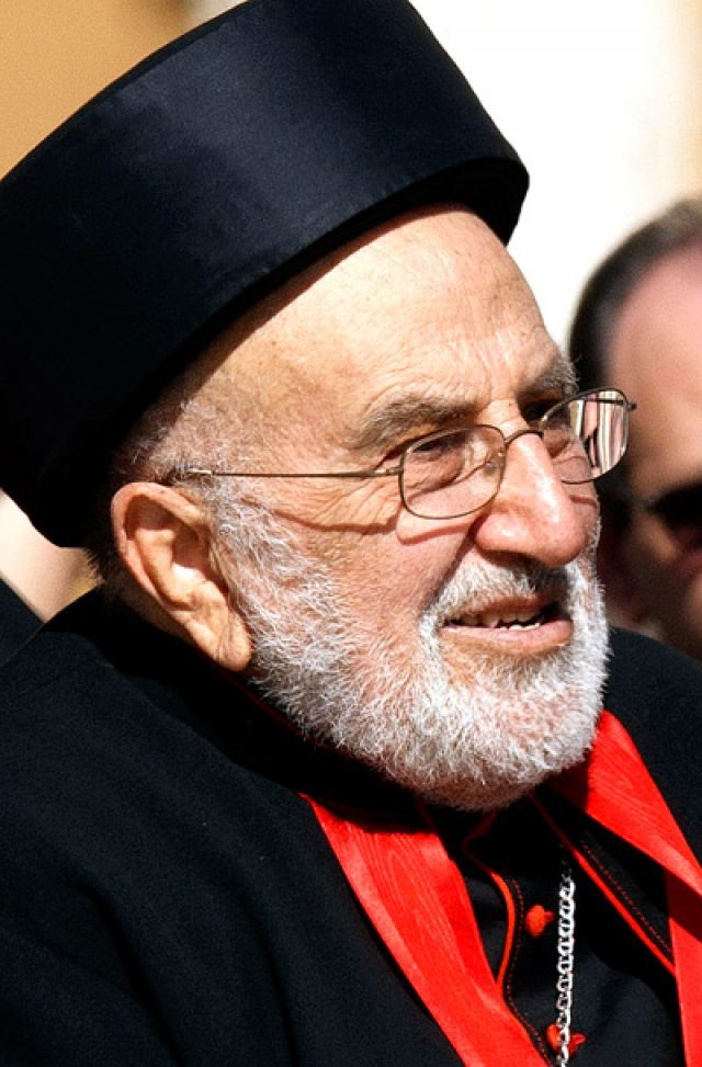 Pope Francis praised the dedication of Cardinal Emmanuel-Karim Delly, 86, retired patriarch of the Chaldean Catholic Church, who died April 8 in a hospital in San Diego. Cardinal Delly is pictured in a 2012 photo.