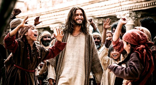 Diego Morgado stars as Jesus in a scene from the movie Son of God. The film is one of several biblical epics Hollywood is expected to release in coming weeks.