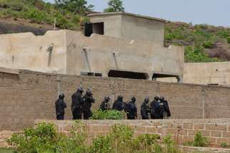Malian forces conduct search operations June 19 after a terrorist attack at the Le Campement Kangaba resort outside the capital of Bamako. Mali's Catholic Church has urged a common front against Islamist violence, after Al Qaida-linked terrorists attacked a the resort June 18, days before the creation of the country's first cardinal.