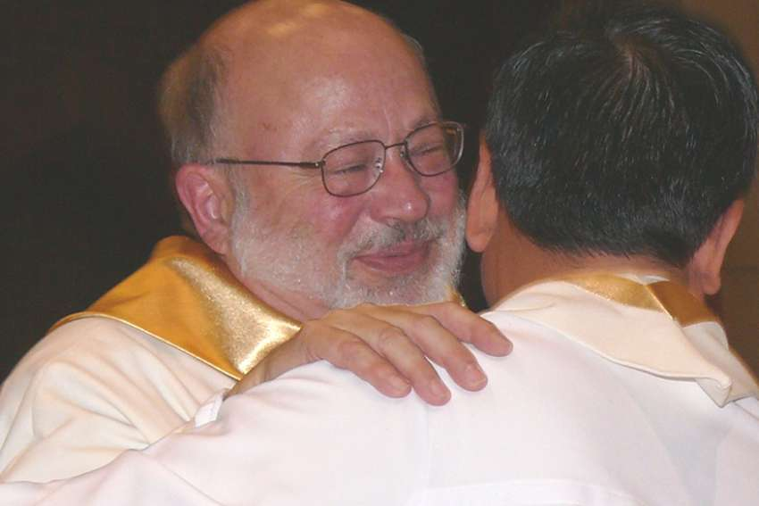 Fr. Victor Botari at his 2008 ordination at age 63. The native of Welland, Ont., spent much of his adult life co-ordinating aid programs before answering the call to the priesthood.
