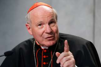 "Austrian Cardinal Christoph Schonborn speaking at a news conference, April 8. Schonborn made headlines on the anniversary of September 11 when he said Europe was at risk of an ""Islamic conquest."""
