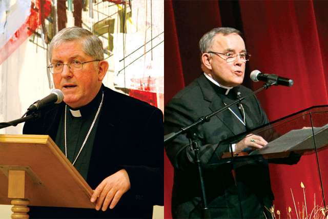Toronto's Cardinal Thomas Collins, left, and Archbishop Charles Chaput of Philadelphia, are two of the speakers at the Faith in the Public Square event in Toronto.