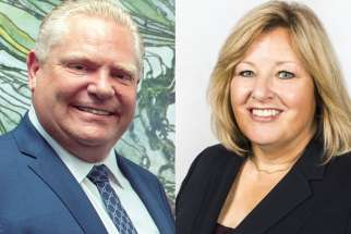 Premier Doug Ford and Education Minister Lisa Thompson