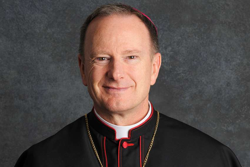 "Bishop Michael C. Barber of Oakland, Calif., is pictured in a June 24, 2013, photo. The diocese has released the names of 45 priests, deacons and religious brothers who officials say are ""credibly accused"" of sexually abusing minors."