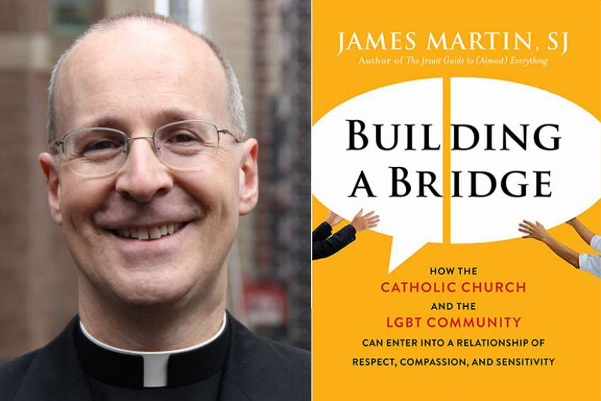 """Building A Bridge: How the Catholic Church and the LGBT Community Can Enter into a Relationship of Respect, Compassion, and Sensitivity"" by the Jesuit priest Rev. James Martin."