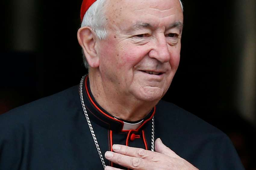 Cardinal Vincent Nichols of Westminster, England, is pictured Oct. 11 at the Vatican. Cardinal Nichols told an independent Inquiry into Child Sex Abuse Dec. 13 that he was shocked to learn a now-deceased vicar in Birmingham tried to help two pedophile priests flee to United States.