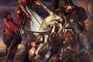 Sir Peter Paul Rubens (1577-1640) descent from the cross, Mantua, 1600-1602