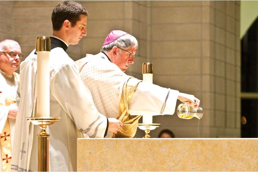 Oils consecrated at chrism Mass central to Church's