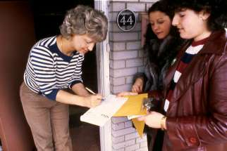 In the early 1980s, canvassers go door-to-door to raise funds for ShareLife. The charitable fundraising arm of the Toronto archdiocese wants more lay participation for next year's campaign.