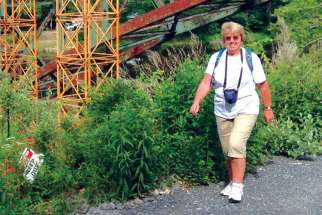 Angela Kirby on her walk in Vermont to raise funds to fight MS.