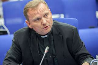 Msgr. Janusz Urbanczyk, pictured, said the peaceful contribution of religion to public life is being contested.