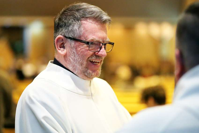 Auxiliary Bishop Marc Pelchat of Quebec, pictured here in 2017, said Quebec bishops have discussed limited ordination of married men to help fight the priest shortage.