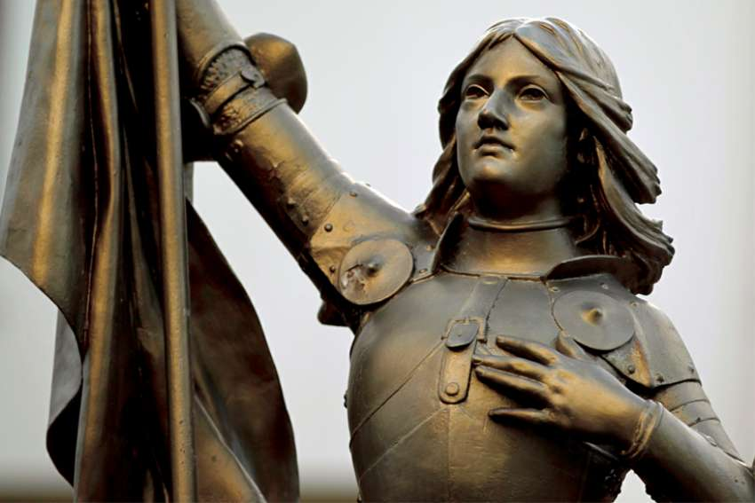 A statue of Joan of Arc in Nanterre, France.