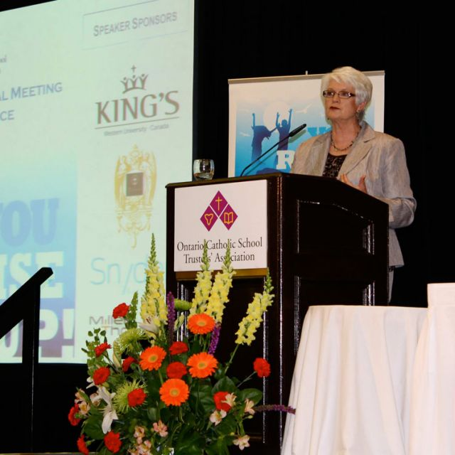 Liz Sandals addresses Catholic school trustees
