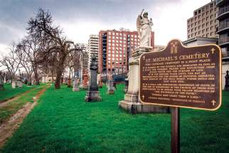 St. Michael's Cemetery opened in 1855 and was the only non-parish Catholic burial ground in Toronto until 1900.