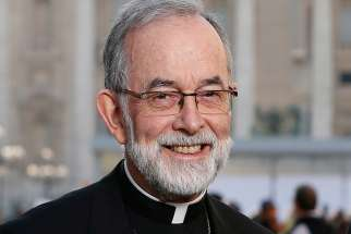Bishop Lionel Gendron of Saint-Jean-Longueuil, Quebec, president of the Canadian Conference of Catholic Bishops.