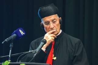 Maronite Patriarch Cardinal Béchara Boutros Raï speaks at the CCCB plenary Sept. 24.
