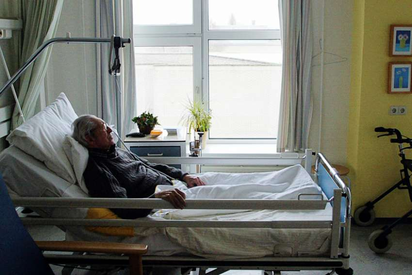 An unidentified man suffering from Alzheimer's disease and who refused to eat sleeps peacefully the day before passing away in a nursing home in Utrecht, Netherlands. Cardinal Willem Eijk of Utrecht predicted the number of euthanasia cases in the Netherlands will surge after the country's highest court gave the green light to allow the killing of dementia patients no longer able to give their consent.