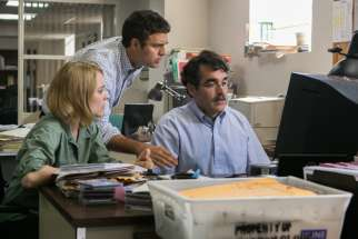 Rachel McAdams, Mark Ruffalo and Brian d'Arcy James star in a scene from the movie Spotlight, a look into the real-life events leading up to the disclosure of clergy abuse in the Archdiocese of Boston.
