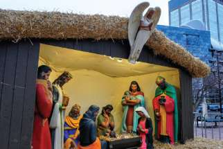 The outdoor Nativity scene in front of Edmonton's City Hall has been downsized and put indoors, causing some backlash.