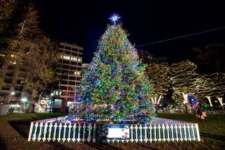 The Christmas tree in Boston Common is an annual gift from the people of Nova Scotia to recognize Boston's aid after the 1917 Halifax Explosion.
