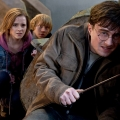 Emma Watson, Daniel Radcliffe and Rupert Grint star in a scene from the movie Harry Potter and the Deathly Hallows — Part 2.