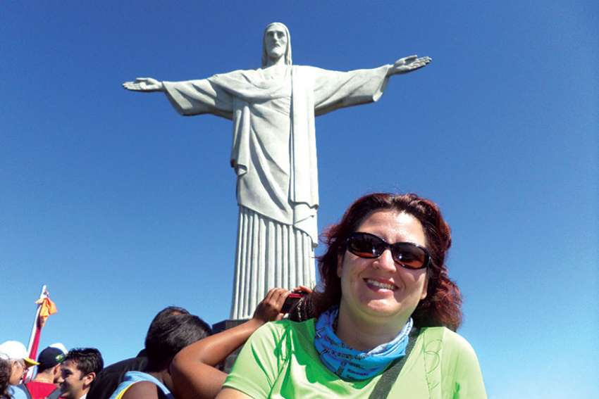 WYD national coordinator Isabel Correa at World Youth Day in Rio de Janeiro, Brazil.