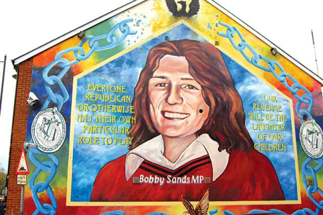The Bobby Sands mural in Belfast.