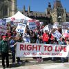 The annual March for Life is one way pro-lifers have been protesting against the fact Canada has no law against abortion