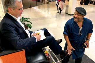 Wayne Kendrick has shined shoes at Louis Armstrong International Airport in New Orleans for 35 years and shares his Catholic faith with customers and co-workers.