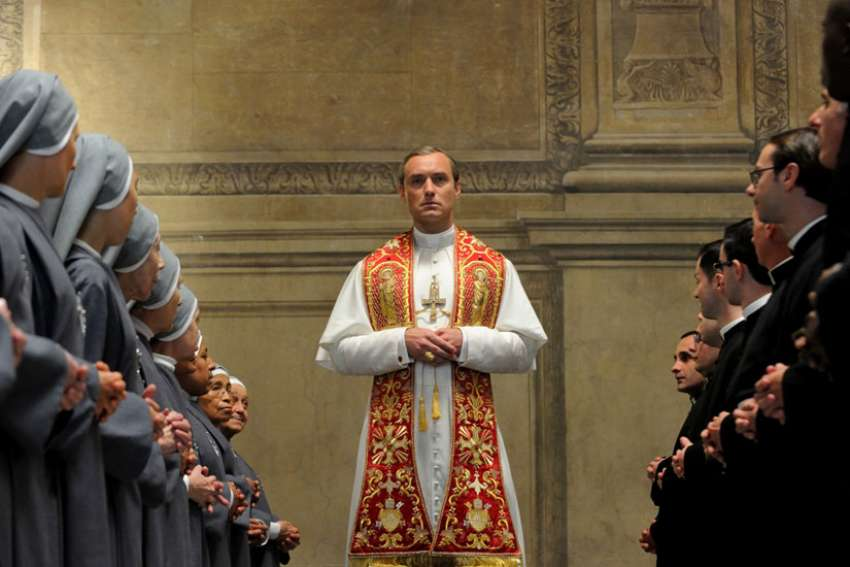 "Jude Law stars in a scene from the HBO television drama series ""The Young Pope."""