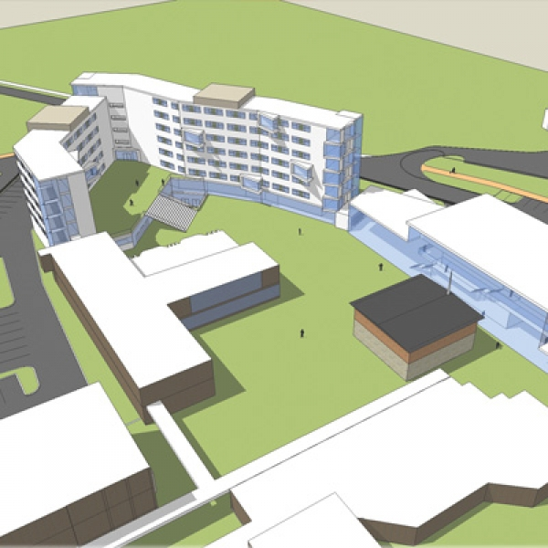An image of the proposed St. Jerome's University campus from a southeast perspective.