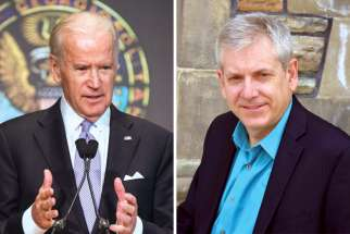 "Joe Biden, left, and Charlie Angus have found themselves in ""wafer wars."""