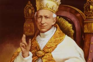 Pope Leo XIII is depicted seated in an official Vatican portrait circa 1878. The pope, credited with being the founder of Catholic social teaching, anonymously crafted Latin riddles for a Roman magazine.