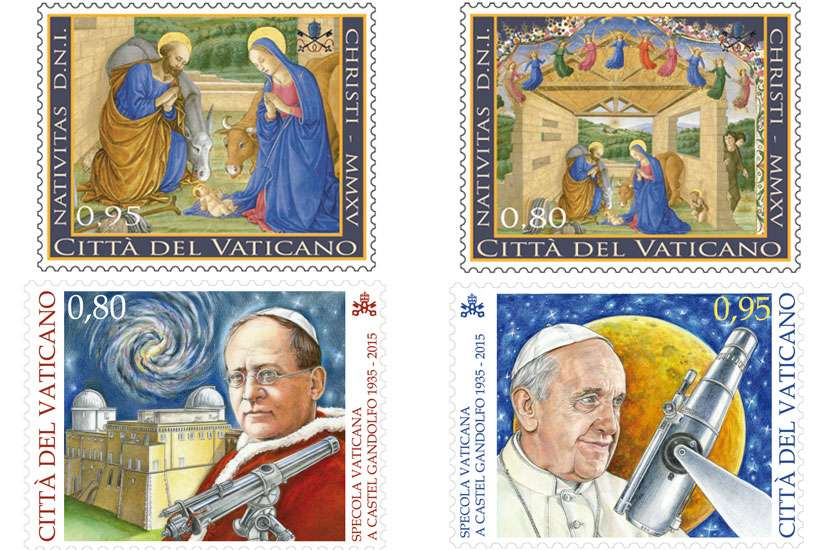Vatican Christmas stamps feature manuscript painting of Holy Family