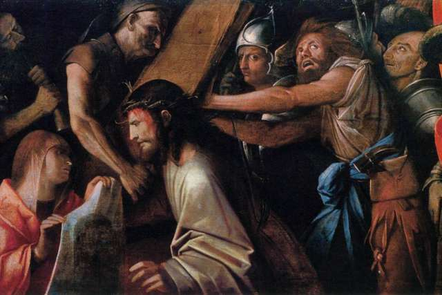 Road to Calvary with Veronica's Veil by Giovanni Cariani (between 1523 and 1525)