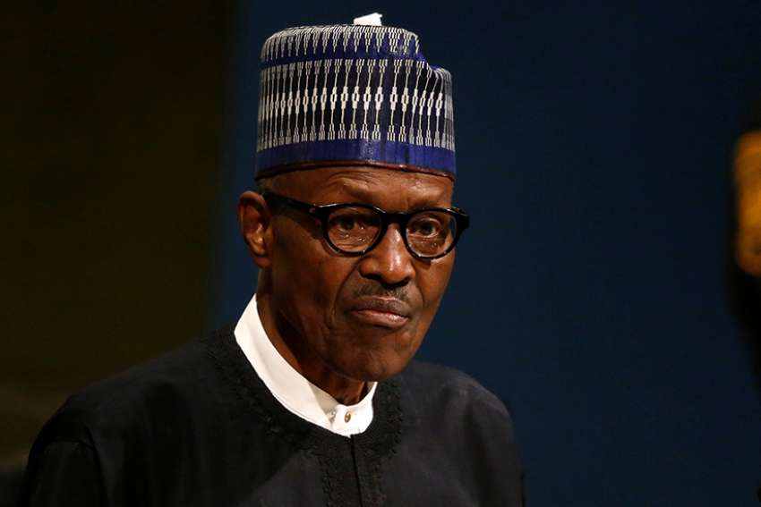 Nigerian President Muhammadu Buhari is seen at the United Nations in New York City Sept. 19, 2017. Nigeria's bishops condemned repeated killings of innocent Nigerians by suspected ethnic militias in northeastern Nigeria and said the president should resign if he could not keep the country safe.