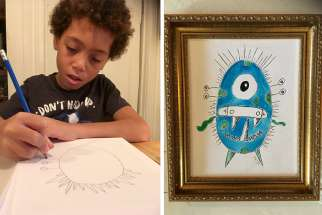 "Benjamin Howard, 9, created ""The Monster Project"" in support of the Angel Foundation for learning. He has been drawing monsters since the age of 7."