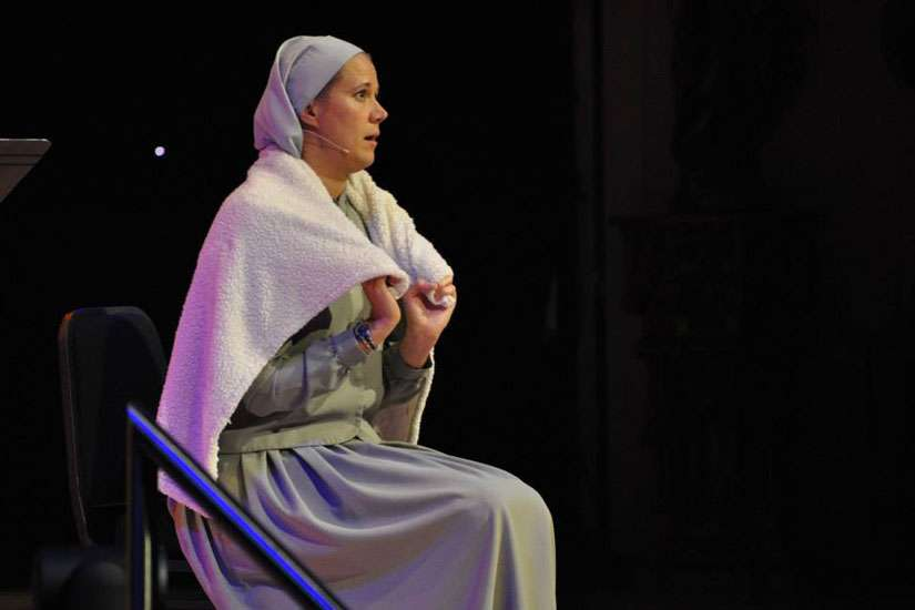 Sr. Miriam talked about the safety blankets we carry with us and how it limits us from our relationship with God.