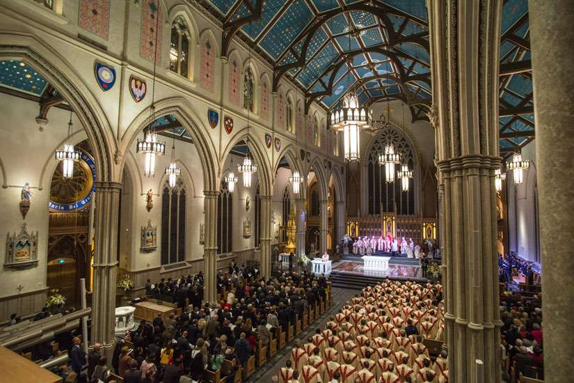 In front of a full-house, Cardinal Michael Collins rededicated St. Michael's Cathedral Sept. 30, capping off a five-year, 168-million restoration.