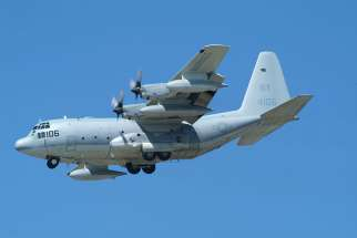 15 U.S. Marines and one U.S. Navy corpsman died July 10 when their refuelling and cargo plane, a KC-130, similar to the one pictured, crashed.