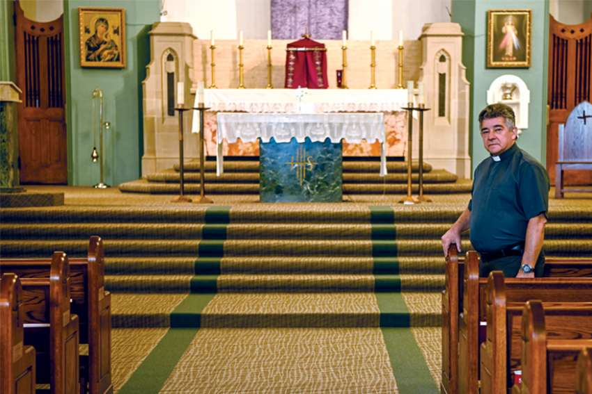 St. Brigid's pastor Fr. Carlos Sierra Tobon says we can never take the Eucharist for granted.