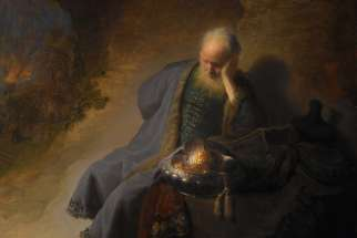 Rembrandt van Rijn, Jeremiah Lamenting the Destruction of Jerusalem, c. 1630.