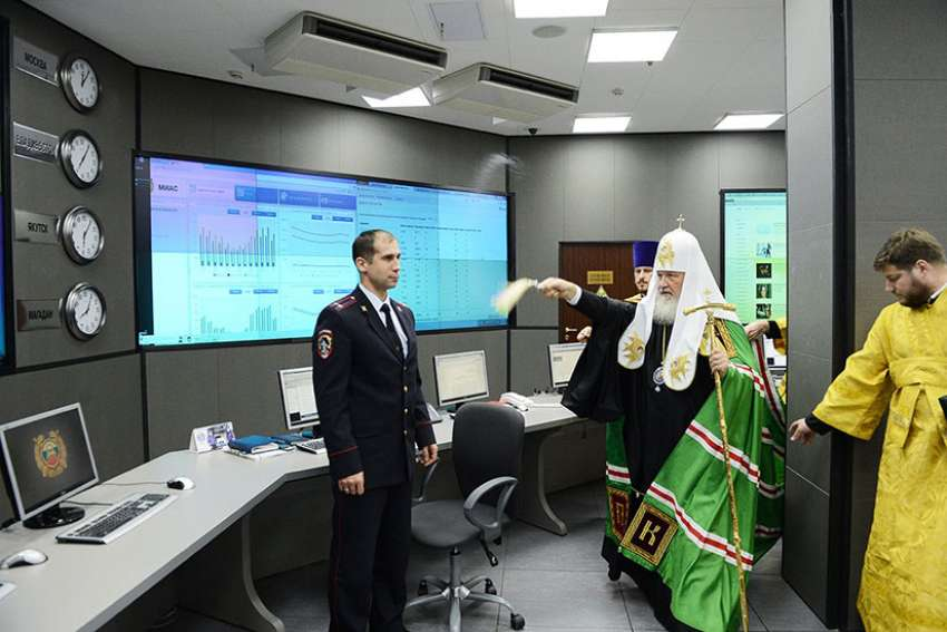 "After ransomware ""WannaCry"" hacked as many as 200,000 computers worldwide, Russia's Ministry of Internal Affairs invited Patriarch Kirill to bless its computers."