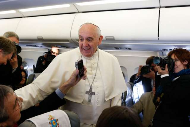 During an in-flight news conference Pope Francis stated that he will meet with a group of sex abuse victims in June.