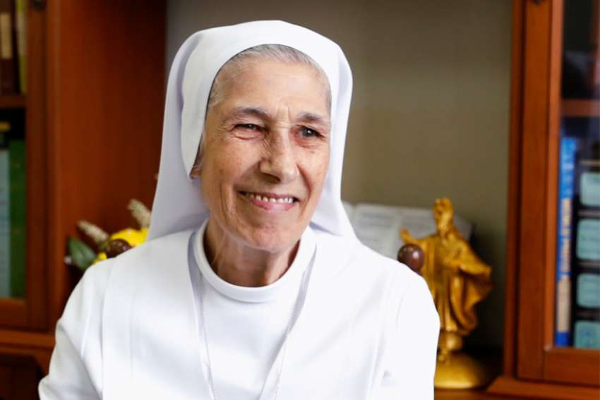 Salesian Sister Ana Rosa Sivori is Pope Francis' second cousin and missionary in Thailand. She will translate for the pope during his Nov. 20-23 visit to the country, the Vatican press office announced. She is seen at the St. Mary School in Udon Thani, Thailand, Sept. 24, 2019.